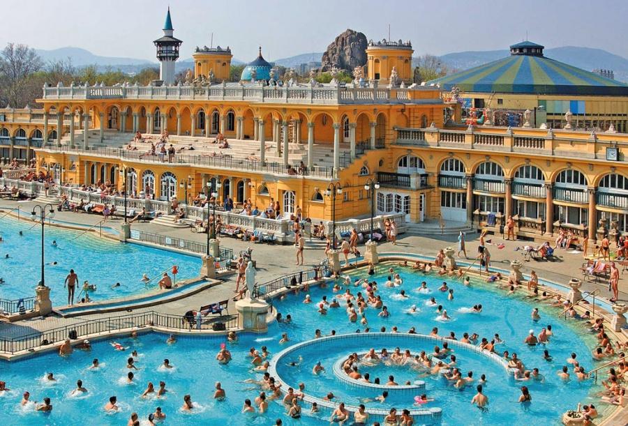 Купальни Сечени, Будапешт, Венгрия, Европа